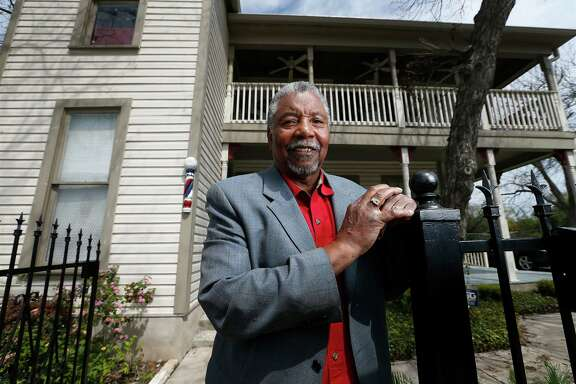 Portrait of Charles Williams, local businessman and civil rights activist from the city's East side in front of his office at 701 Montana Street on Mar. 26, 2015.