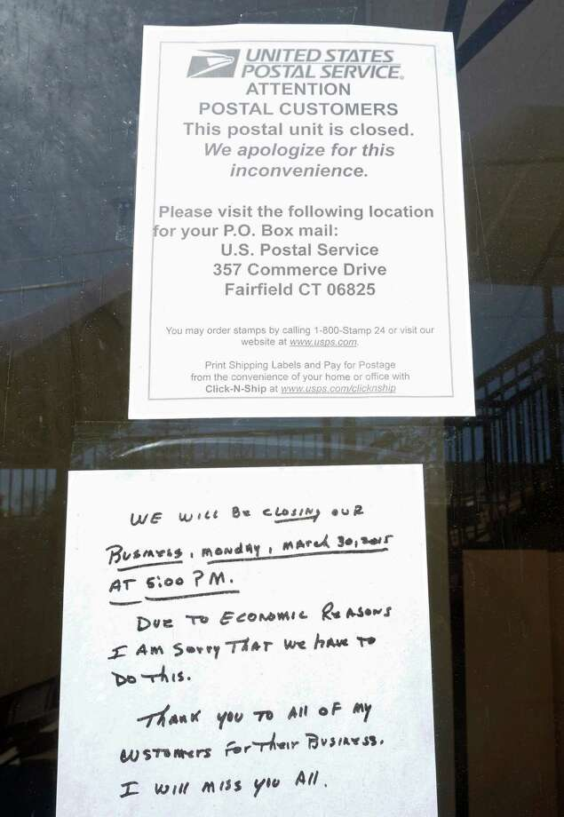 The contract postal unit at 1881 Black Rock Turnpike closed at the end of business on Monday. Customers with post office boxes can find their mail at the U.S. Post Office on Commerce Drive. Photo: Genevieve Reilly / Fairfield Citizen