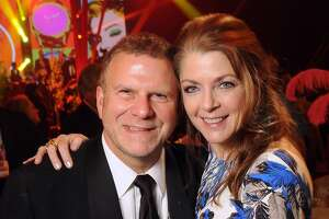Host Paige and Tilman Fertitta at the 14th Annual San Luis Salute at the Galveston Island Convention Center Friday Feb 28, 2014.(Dave Rossman photo)