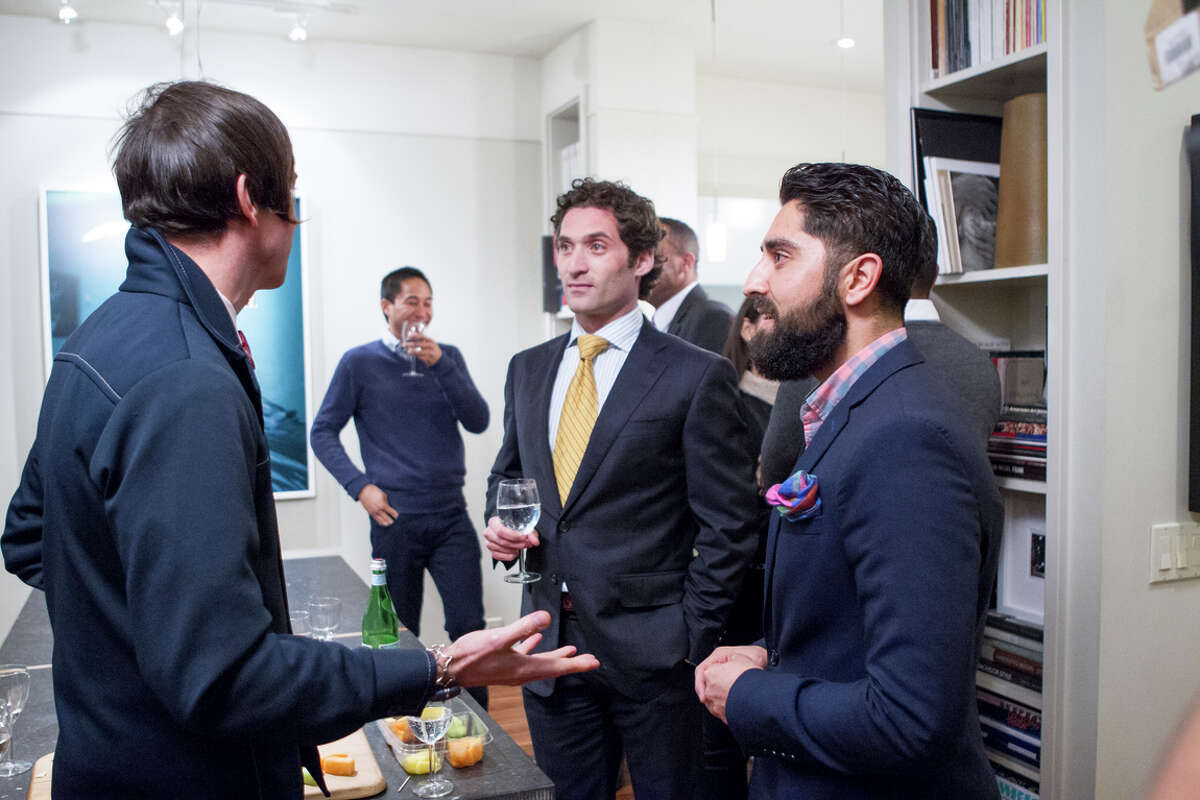 """Justin Fichelson (center) and Roh Habibi will be featured in the reality TV show """"Million Dollar Listing San Francisco"""" starting in July."""