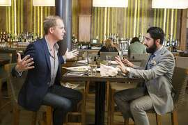 """A scene from Bravo's """"Million Dollar Listing San Francisco,"""" which follows real estate agents Andrew Greenwell (left) and Roh Habibi."""