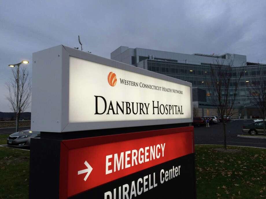 Danbury Hospital emergency entrance. Photo: Carol Kaliff / The News-Times