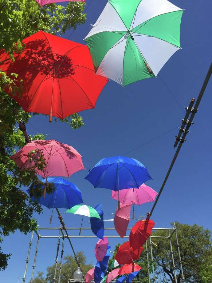 'Art of Umbrellas,' by San Antonio artist Ethel Shipton, is the latest installation at the historic Travis Park. Photo: Courtesy Photo