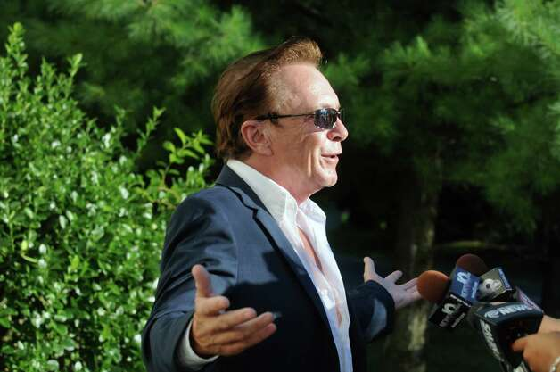 Celebrity David Cassidy talks about the status of his DWI plea at Town Court on Wednesday Sept. 3, 2014 in Schodack, N.Y.  (Michael P. Farrell/Times Union)  FARRELL2014YEAR Photo: Michael P. Farrell / 00028445A