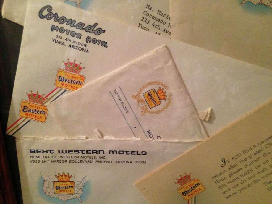 Stationary marketed the Historic Coronado Motor Hotel in the days before the Internet. Photo: Sam McManis /Tribune News Service / Sacramento Bee