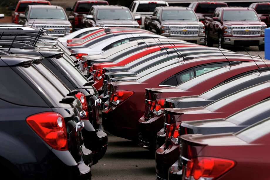 In this Monday, March 23, 2015 photo, Chevrolet vehicles are on display at a dealership in Gibsonia, Pa. Automakers release vehicle sales for March on Wednesday, April 1, 2015. (AP Photo/Gene J. Puskar) ORG XMIT: NY120 Photo: Gene J. Puskar / AP