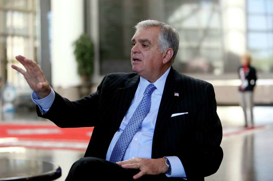 """America … is one big pothole right now because, I say, we have not invested over the last decade,"" former transportation secretary Ray LaHood said. ( Gary Coronado / Houston Chronicle ) Photo: Gary Coronado, Houston Chronicle / © 2015 Houston Chronicle"