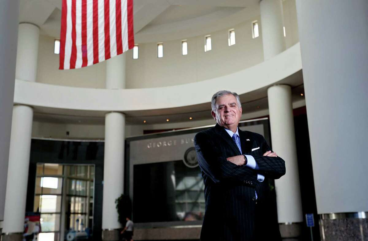 RayLaHood, who served as U.S. Secretary of Transportation from 2009 until 2013, at The George Bush Presidential Library and Museum on March 25 in College Station. ( Gary Coronado / Houston Chronicle )