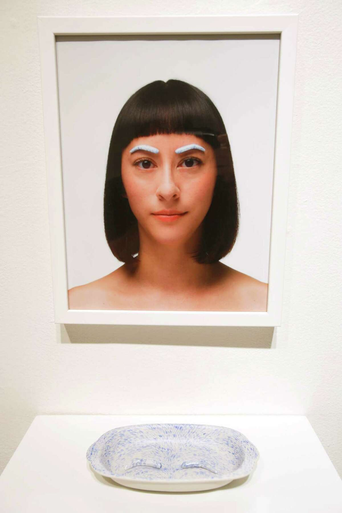 Datchuk's eyebrow piece from the Guadalupe Cultural Art Center's CAM Perennial exhibition.