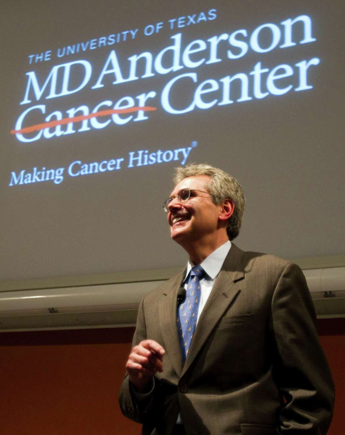 Dr. Ronald DePinho, who has been in Houston since 2011, is the fourth president of M.D. Anderson Cancer Center. ( Brett Coomer / Houston Chronicle )