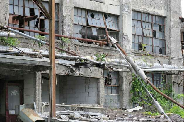 Deteriorating exterior of the Tobin packing plant known as the First Prize Center on Exchange St. on Tuesday, June 18, 2013 in Albany, N.Y.  (Lori Van Buren / Times Union archive) Photo: Lori Van Buren / 10022865A