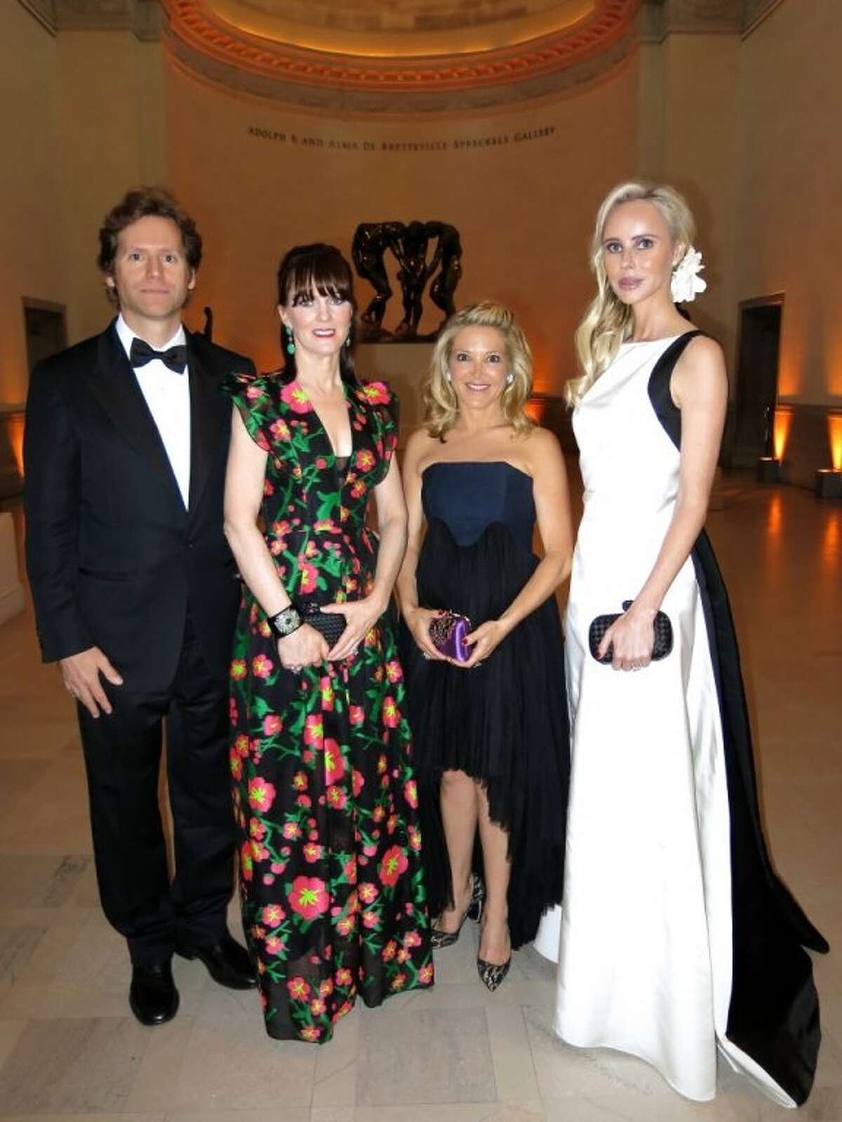 Mid-Winter Gala co-chairs (from left) Fine Arts Museums trustee Trevor Traina, Allison Speer, Kathryn Lasater and FAM trustee Vanessa Getty at the Legion of Honor Museum.