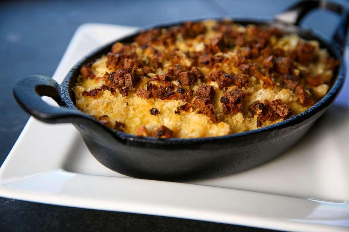 Vegan mac & cheese by Plum Bistro chef Makini Howell.