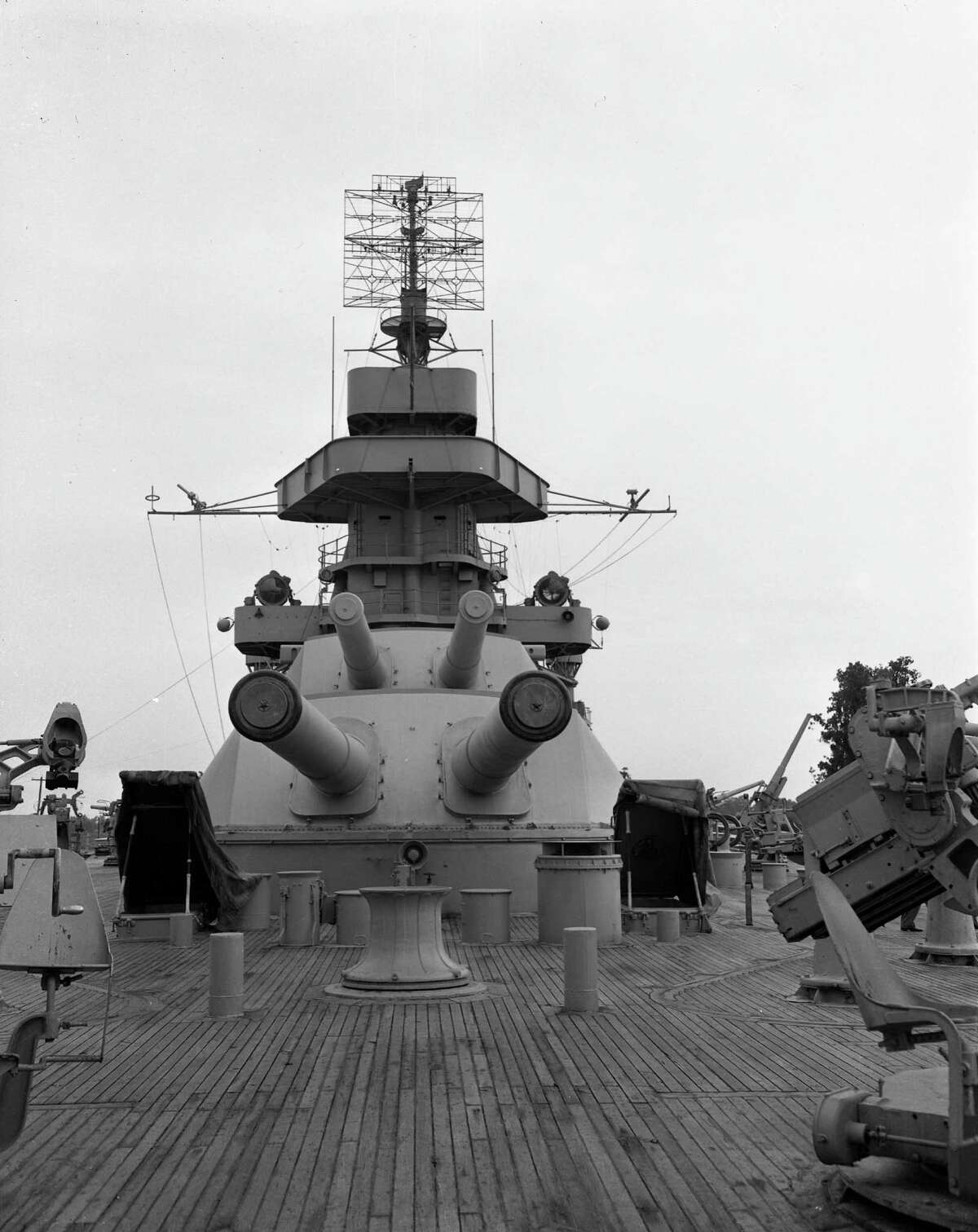 The Battleship Texas has been docked at the San Jacinto Battleground site since 1948.