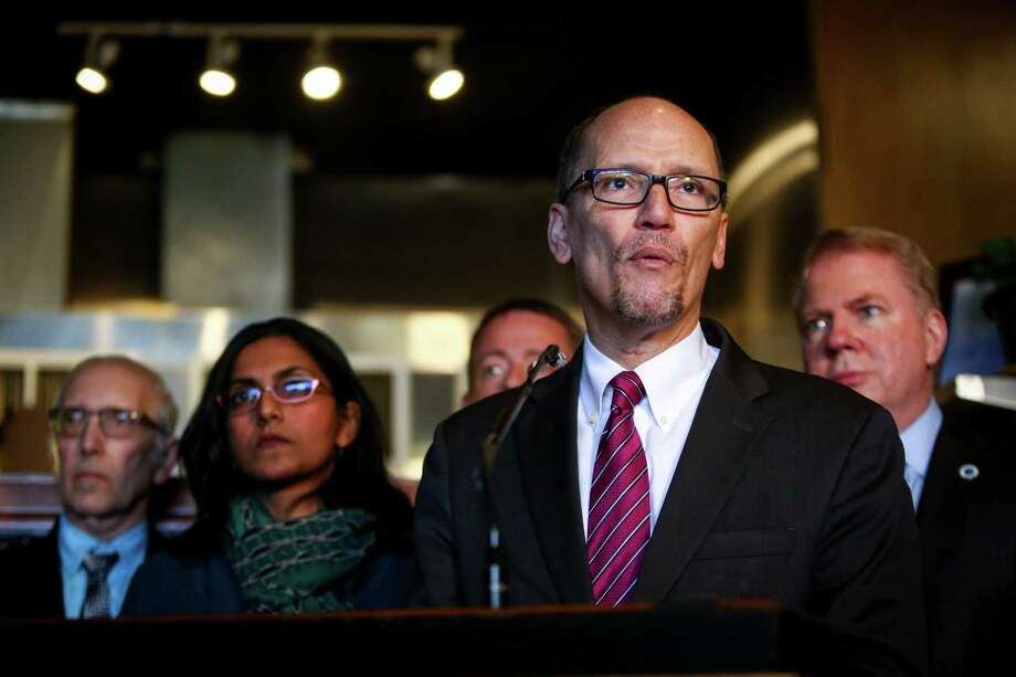 Democratic Chairman Tom Perez: He has rejected Gov. Inslee's call for a presidential candidates' debate on the climate crisis. Photo: JOSHUA TRUJILLO, SEATTLEPI.COM / SEATTLEPI.COM