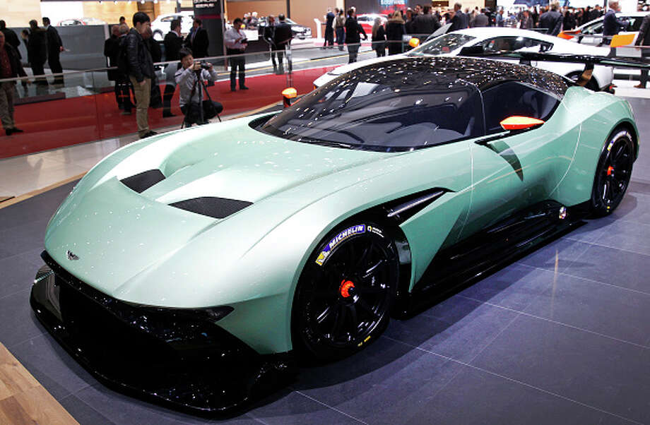 """An Aston Martin Vulcan made its world debut at the Geneva  International Motor Show on March 3. The track-only vehicle boasts 800-plus brake horsepower and a carbon-fiber body.  """"A sports car for true sports car lovers, I believe the Aston Martin Vulcan – and the unique ownership programme that sits behind it – sets a whole new standard in the ultra-high luxury supercar class,"""" Andy Palmer, CEO of Aston Martin, said in a statement. Photo: Chesnot, Getty Images / 2015 Chesnot"""