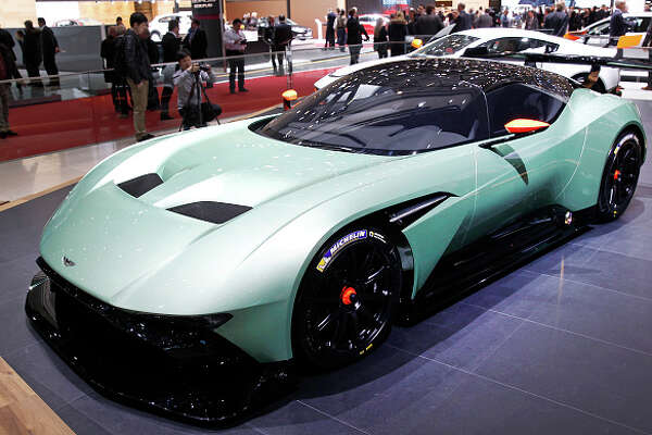 """An  Aston Martin Vulcan  made its world debut at the Geneva  International Motor Show on March 3. The track-only vehicle boasts 800-plus brake horsepower and a carbon-fiber body.  """"A sports car for true sports car lovers, I believe the Aston Martin Vulcan – and the unique ownership programme that sits behind it – sets a whole new standard in the ultra-high luxury supercar class,"""" Andy Palmer, CEO of Aston Martin,  said in a statement ."""