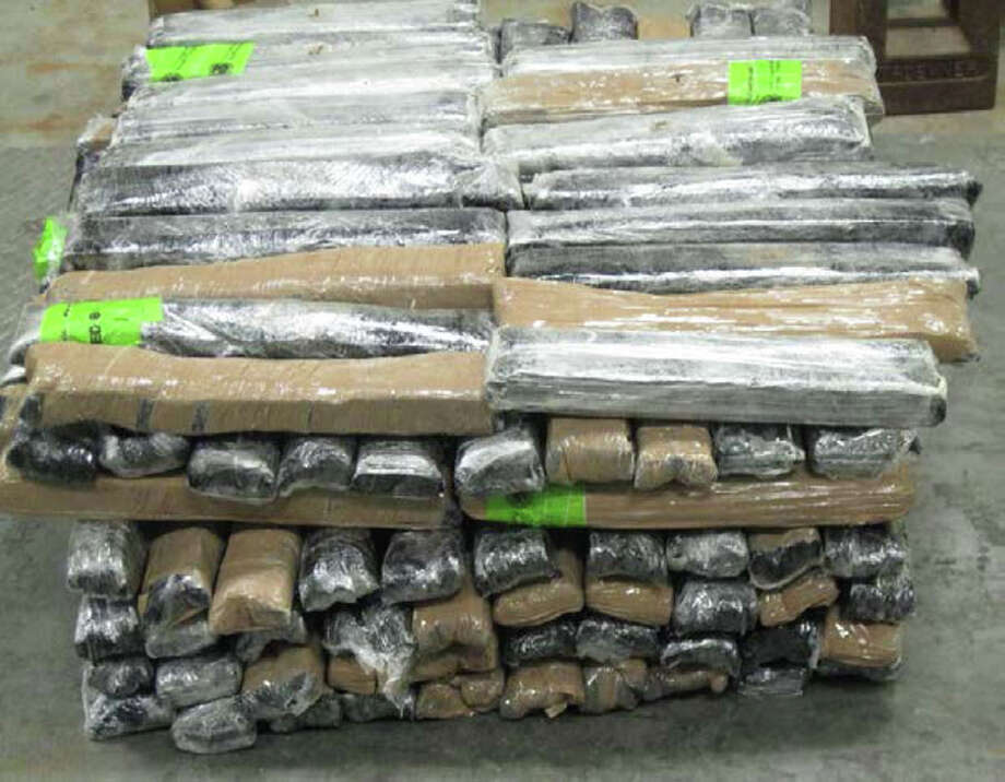 Authorities seized more than 150 pounds of suspected methamphetamine at the border March 31. Photo: U.S. Customs And Border Protection