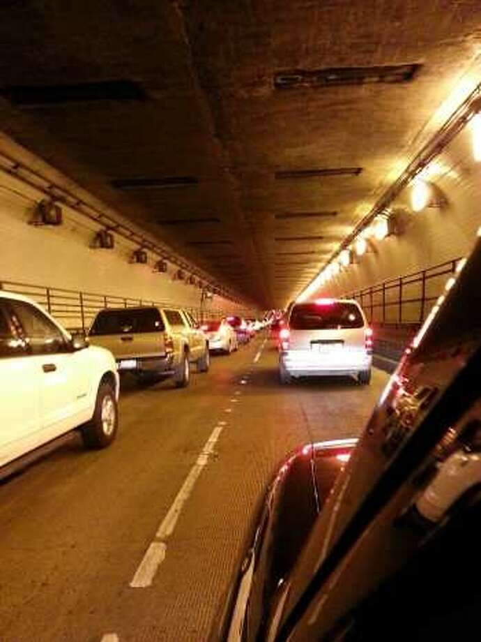 A file photo of the Posey Tube. Both lanes of the Posey Tube in Oakland will be closed Monday morning, authorities said.