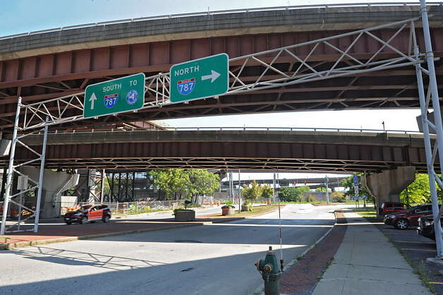 The I-787 ramps near Madison Ave. on Tuesday, Aug. 26, 2014, in Albany, N.Y. (Lori Van Buren / Times Union archive) Photo: Lori Van Buren / 00028345A