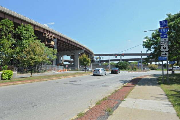 The I-787 ramps near Madison Ave. on Tuesday, Aug. 26, 2014 in Albany, N.Y. (Lori Van Buren / Times Union archive) Photo: Lori Van Buren / 00028345A
