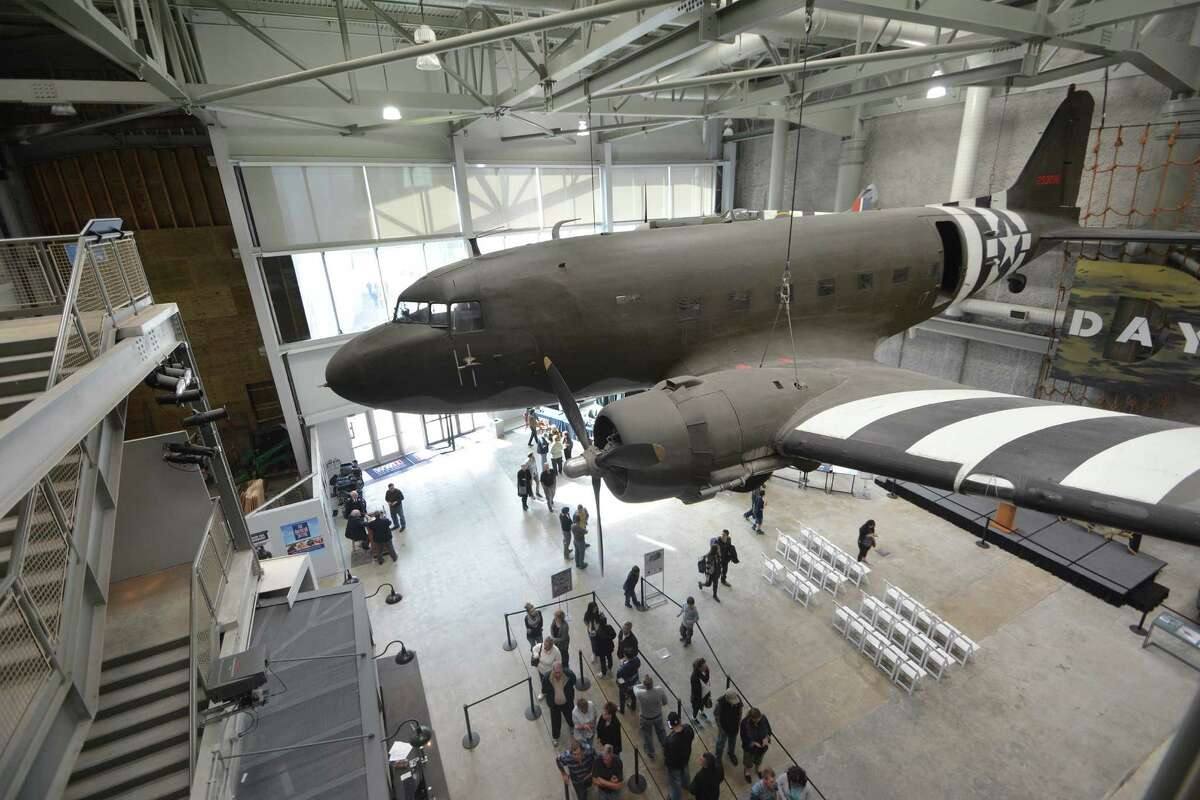 The National WWII Museum is made up of three buildings, including the Atrium in the Louisiana Memorial Pavilion, which features rotating macro-artifacts from the museum's collection -- including a Douglas C-47.