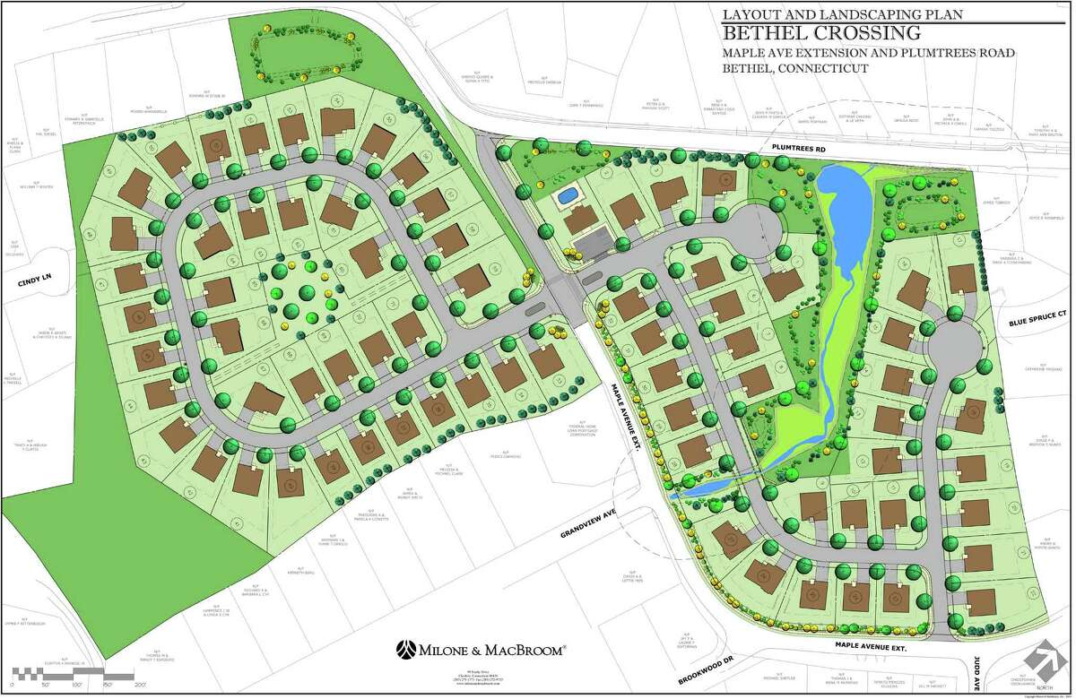 The Inland Wetlands and Planning and Zoning commissions have approved a proposal to build 71 two-story colonial homes on Maple Avenue and Maple Avenue Extension in Bethel, Conn.