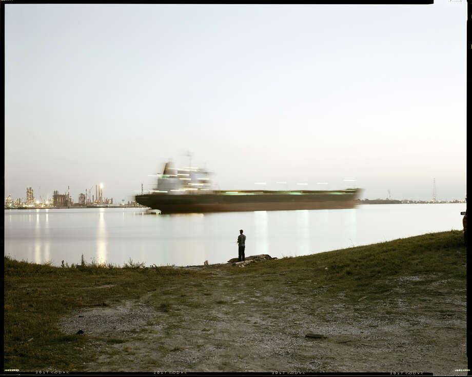 """Night Fishing, Near Bonnet Carré Spillway, Louisiana,"" (1998), by Richard Misrach. Photo courtesy of the Fraenkel Gallery, San Francisco. Photo: Richard Misrach / ONLINE_YES"