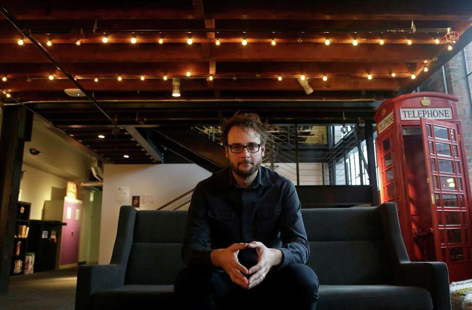 In this Nov. 13, 2014 photo, Pinterest co-founder Evan Sharp poses for photos at the Pinterest office in San Francisco. The San Francisco-based venture capital darling celebrated its fifth birthday in March 2015. (AP Photo/Jeff Chiu) Photo: Jeff Chiu / Associated Press / AP