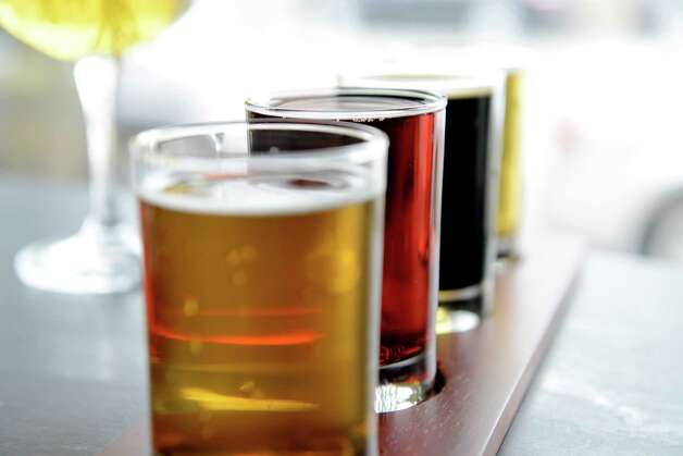 Flight of beer at Beer Belly Friday, March 27, 2015, on New Scotland Ave. in Albany, N.Y. (Will Waldron/Times Union) Photo: WW / 00031170A