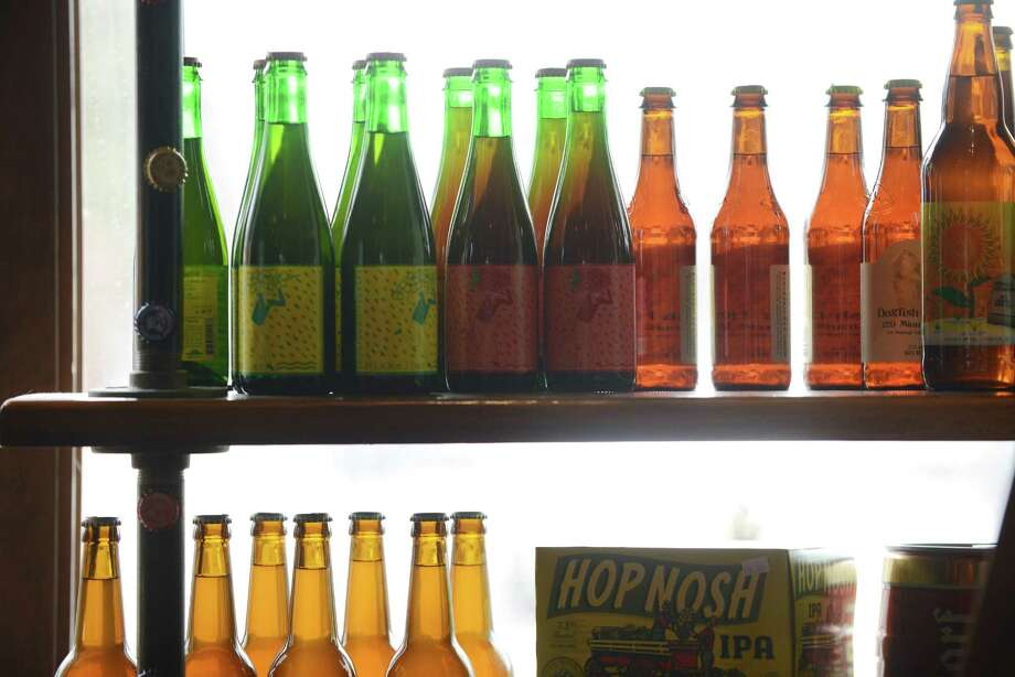 Bottles of beer at Beer Belly Friday, March 27, 2015, on New Scotland Ave. in Albany, N.Y. (Will Waldron/Times Union) Photo: WW / 00031170A