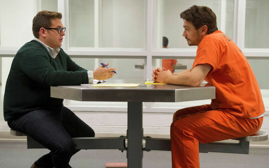 "Jonah Hill (left) as journalist Michael Finkel and James Franco as murderer Christian Longo in the crime drama ""True Story"" from Rupert Goold, below. Photo: Mary Cybulski / Mary Cybulski / 20th Century Fox / ONLINE_YES"