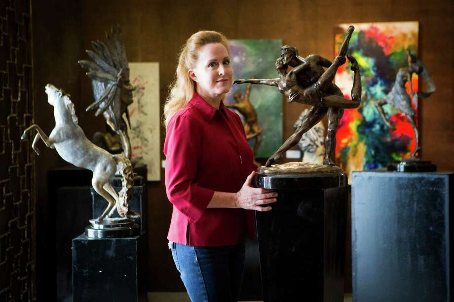 Lori Betz is a sculptor and owner of Betz Art Foundry at 2500 Summer St. near downtown. Betz not only creates sculptures as part of her business, she and foundry master Miguel Macias rent out their equipment to other artists.  Photo: Marie D. De Jesus, Staff / © 2015 Houston Chronicle