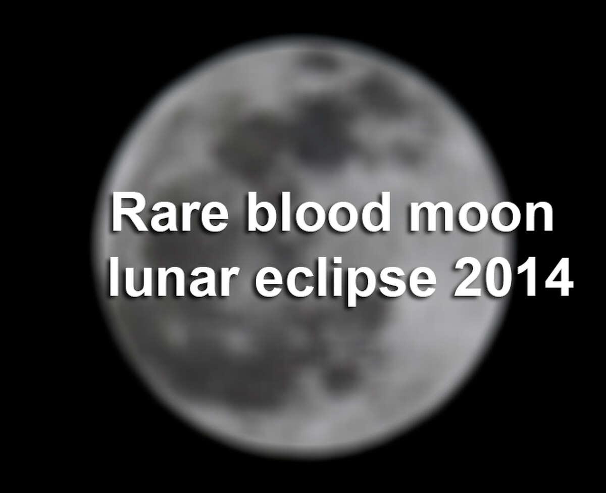 Rare blood moon lunar eclipse 2014