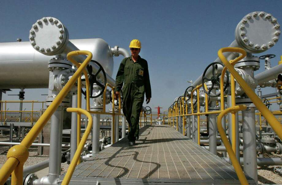 Oil from Iranian facilities like this separator in the Azadegan field  has been mostly absent on world markets because of sanctions that could  disappear as part of framework deal announced Thursday.  (AP Photo/Vahid Salemi, File) Photo: Vahid Salemi, STR / AP2008