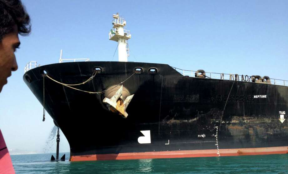 The Iranian oil tanker Iran Astaneh is anchored in Bandar Abbas, Iran, in this 2012 photo. Analysts say a successful nuclear deal could allow the Islamic Republic to empty 700,000 barrels of crude a day into the market, which already is swooning under the weight of a global crude glut. Photo: New York Times File Photo / NYTNS