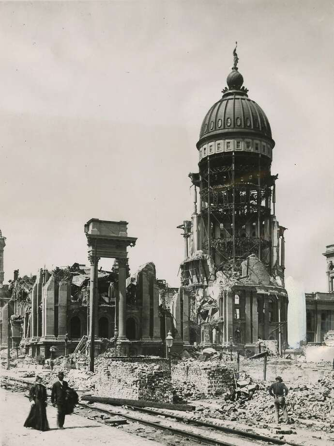 San Francisco City Hall in the aftermath of the 1906 earthquake and fire. Photo: Xx, The Chronicle 1906