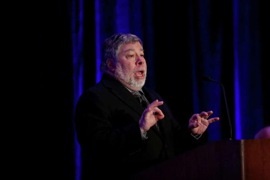 Steve Wozniak, the co-founder of Apple Computer, at the BBVA Compass Economic Forum held at the The St. Regis Thursday, April 2, 2015, in Houston, Texas. ( Gary Coronado / Houston Chronicle ) Photo: Gary Coronado, Staff / © 2015 Houston Chronicle