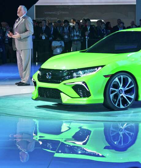John Mendel, a Honda vice president, introduces the Civic Concept car this week in New York.   Photo: Bebeto Matthews, STF / AP