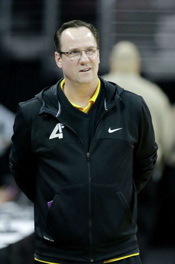 Wichita State head coach Gregg Marshall watches practice for a college basketball regional semifinal game in the NCAA Tournament in Cleveland, Wednesday, March 25, 2015. Wichita State plays Notre Dame on Thursday. (AP Photo/Tony Dejak) Photo: Tony Dejak, STF / AP