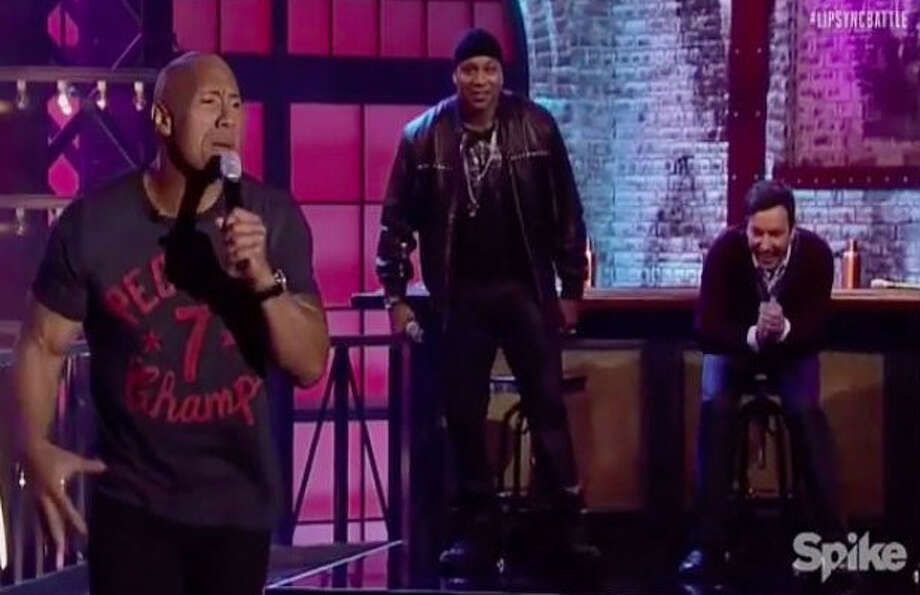 dwayne johnson lets loose in epic lip sync battle with jimmy