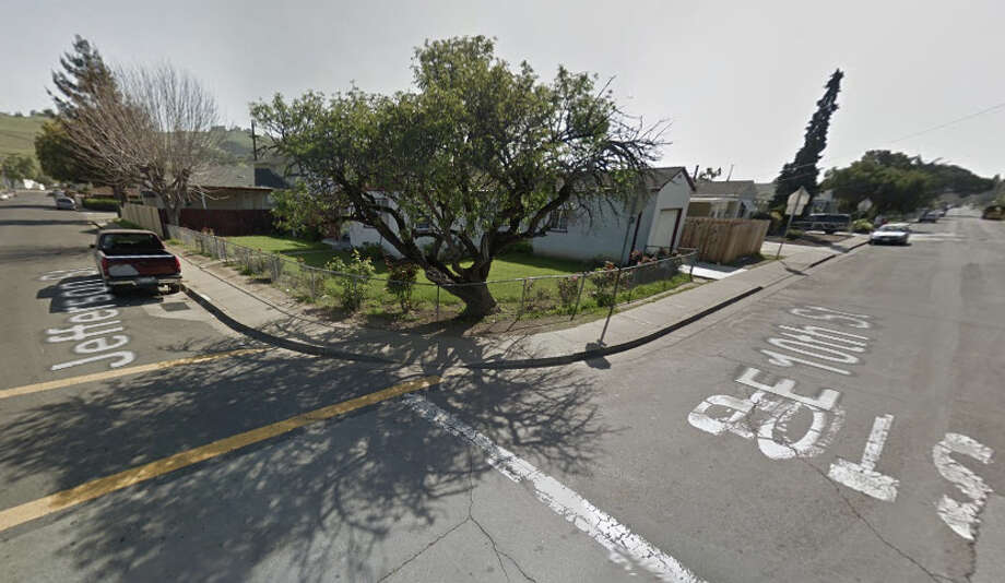 A man was killed near the corner of East 10th and Jefferson streets in Hayward on Thursday. Photo: Google Maps