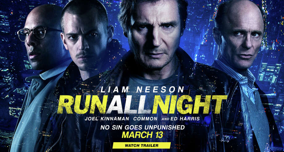 "Liam Neeson, center, stars in another action movie, the new ""Run All Night."" Photo: Contributed Photo / Westport News"