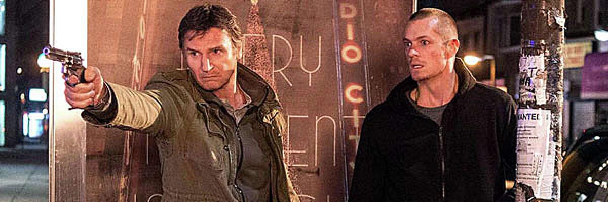 "Liam Neeson and Joel Kinnaman in the new movie, ""Run All Night."""