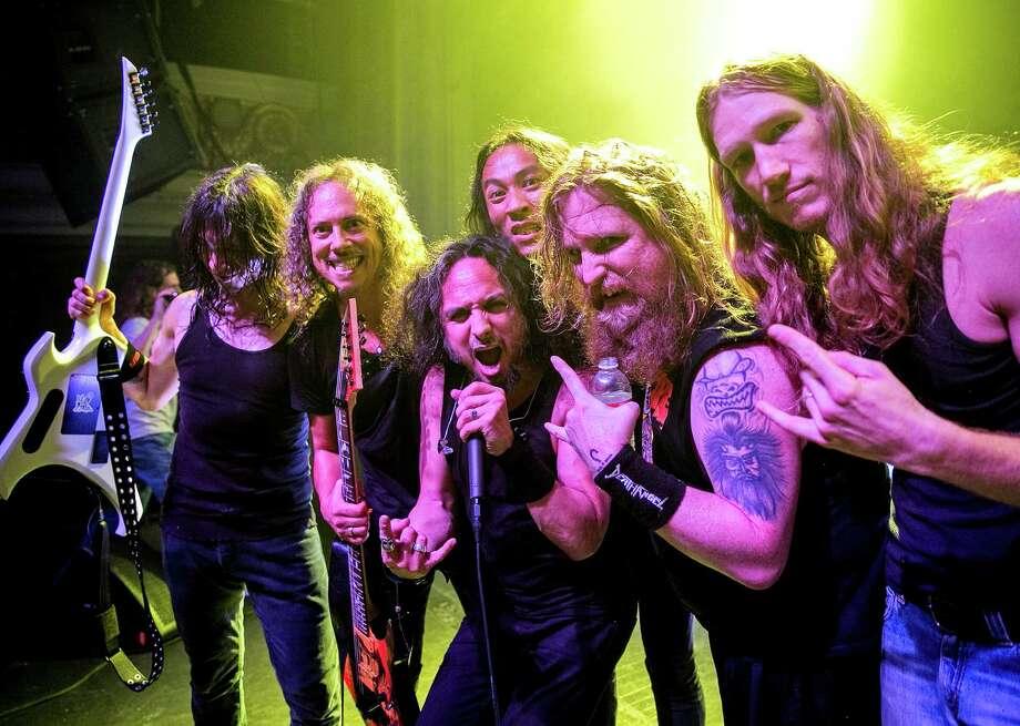 Kirk Hammett making new friends Photo: Raymond Ahner / ONLINE_YES