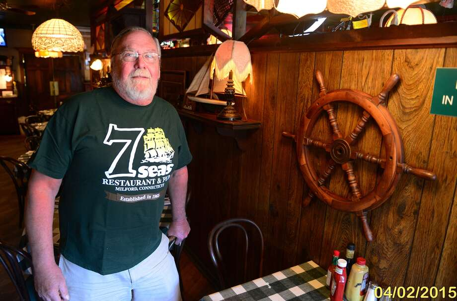Richard Smith, owner of 7 Seas Restaurant on New Haven Avenue in Milford, Conn., on Thursday Apr. 2, 2015. Photo: Christian Abraham / Connecticut Post