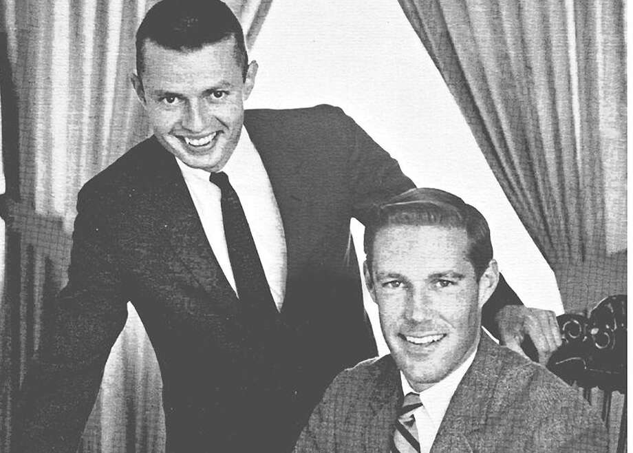 James Gabbert (left) with Gary Gielow at KPEN in 1967. Photo: Courtesy Of Gary M. Gielow / ONLINE_YES