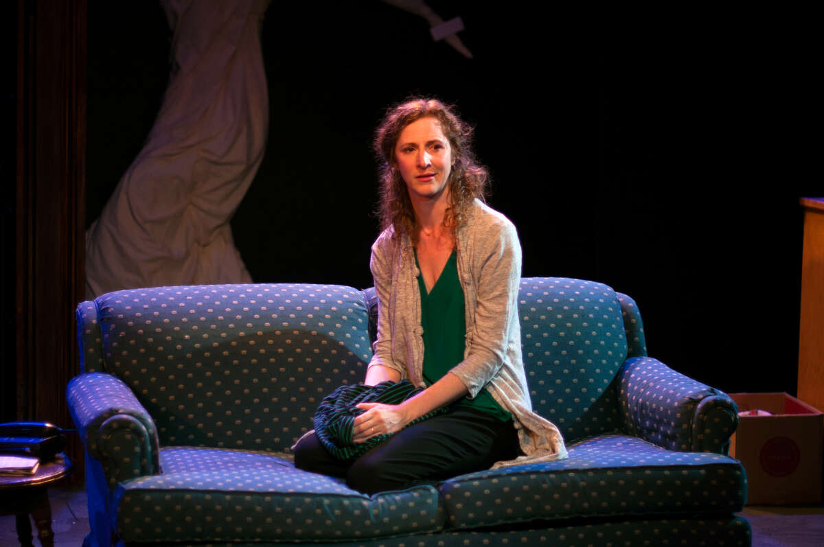 Fiona (Jessica Bates) dreams of finding her missing son in Lauren Yee's