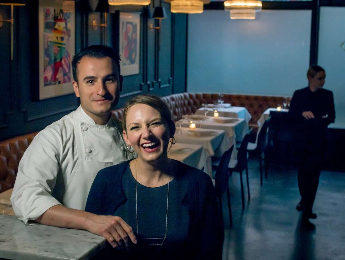 Val Cantu with his wife, Carolyn Cantu, at Californios in the Mission.