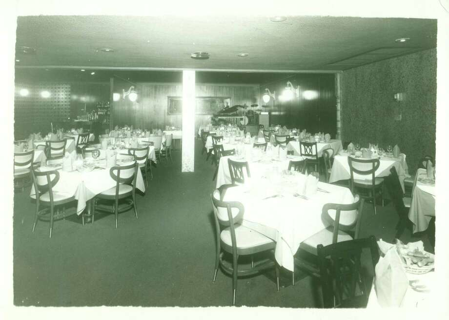 The original Tony's dining room, circa 1967.